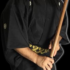Antique kimono japonais samourai