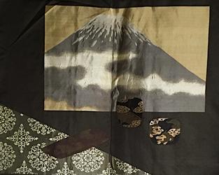 "Ancien haori samourai Chanoyu Fujisan Umebachi MonTsuki homme ""Made in Japan"""