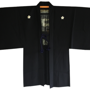 "Ancien haori samourai Chanoyu Fujisan Umebachi MonTsuki homme ""Made in Japan"""