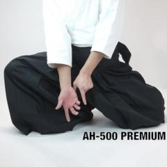 Luxe hakama Aikido Aikikai polyester noir taille 28.5 Tozando Premium AH-500
