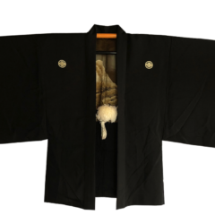 "Ancien haori samourai Yuki no Yama Mokko Montsuki homme ""Made in Japan"""