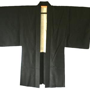 Antique kimono Haori samourai soire noire Mitsu Kashiwa homme