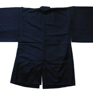 Luxe IaidoGi manche kimono traditionnel tetron noir Tozando