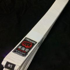 Ceinture blanche Karate Tokaido BLW Kobushi Taille 5 (280cm)