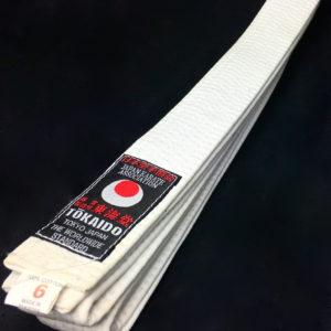 Ceinture blanche Karate Tokaido BLW JKA Taille 6 (295cm)