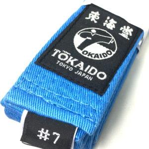Ceinture bleu Karate Tokaido BLBU Kickman Taille 7 (310cm)