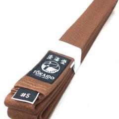 Ceinture marron Karate Tokaido BLB Kickman Taille 5 (280cm)