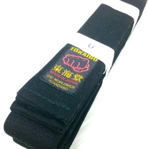 Luxe ceinture noire Karate Tokaido BLC-XW Yohachi label Kobushi Taille 0 (205cm)