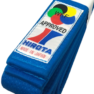 Luxe ceinture bleu Karate Hirota Kumite Yohachi WKF Taille 3 (250cm)