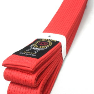 Ceinture rouge Karate Hirota Kumite Taille 3 (250cm)
