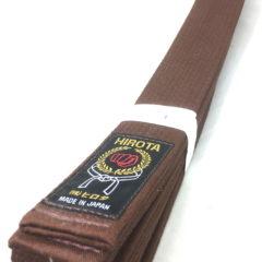 Ceinture marron Karate Hirota Taille 7 (310cm)