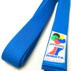 Ceinture bleu Karate Hirota Kumite WKF Taille 5 (280cm)