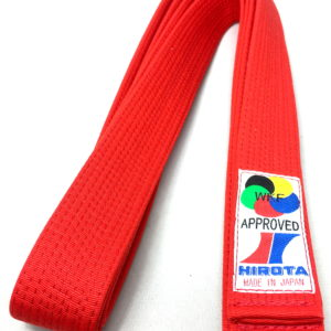 Ceinture rouge Karate Hirota Kumite WKF Taille 5 (280cm)