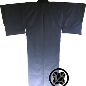 Antique kimono japonais samourai soie noire Maruni TakanoHane Montsuki homme 3