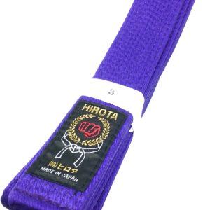 Ceinture violet karate hirota Taille 3 (250cm)