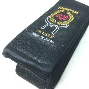 Luxe ceinture noire Karate Hirota spécial soie Taille 5 (280cm)