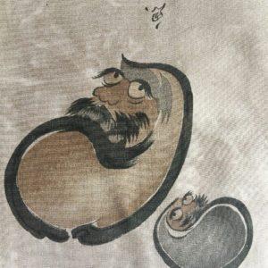 """Antique haori samourai Maru No Daruma homme """"Made in Japan"""""""