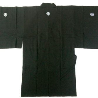 Veste kimono samourai Dogi Ryoma Sakamoto coton noir HandMade in Japan