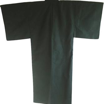 Antique kimono japonais soie noire homme 1