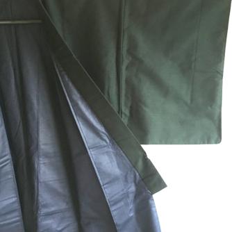 Antique kimono japonais soie noire homme 3