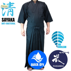 "Luxe Set iaidogi dogi & hakama iaido Bio clean Antibactérien ""Sayaka"" Tozando"