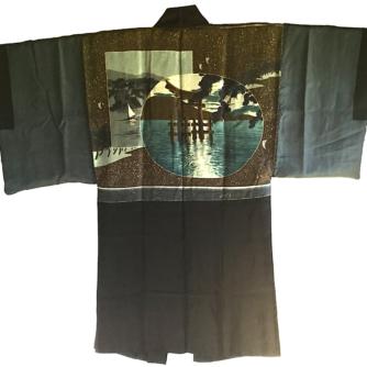 antique_haori_samourai_soie_noire_mokkou_montsuki_torii_miyajima_2