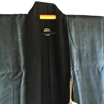 antique_haori_samourai_soie_noire_mokkou_montsuki_torii_miyajima_4