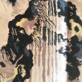 antique_veste_kimono_haori_soie_noire_mitsu_tomoe_take_koi_nobori_10