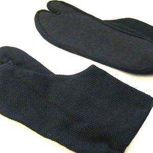 "Luxe Tabi Ninja Sashiko noir coton 4 Kohaze ""Made in Japan"""