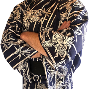 Yukata Ryu Take dragon & bambou homme