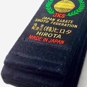 ceinture noire Karate Hirota JKS Taille 8 (325cm)