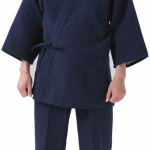 """Luxe samue japonais NijuOri coton bleu marine double épaisseur """"Made in japan"""""""