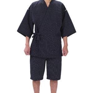 """Jinbei Gokuboso shima shiro noir homme """"Made in Japan"""""""