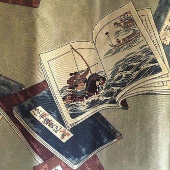 Antique haori samourai soie noire Mokkou Montskuki Ikusa no Hidensho homme10