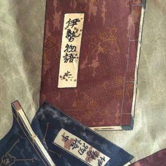 Antique haori samourai soie noire Mokkou Montskuki Ikusa no Hidensho homme9