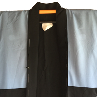 "Antique Haori samourai soie noie Takanohane Montsuki Nihon no Yama Kurashi homme ""Made in Japan"""